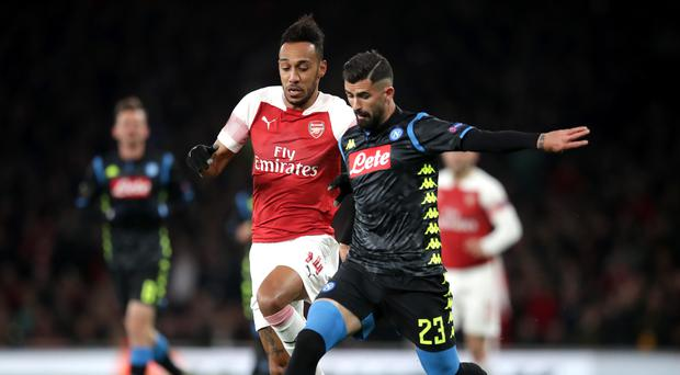 Pierre-Emerick Aubameyang says recent examples of racist abuse in football are painful (Adam Davy/PA)