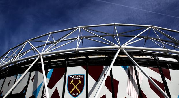 West Ham say they are 'disgusted' by a video on social media showing a group of fans singing anti-Semitic chants (John Walton/PA)
