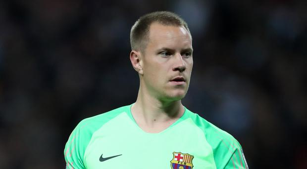 Barcelona goalkeeper Marc-Andre ter Stegen does not believe his side can try to defend their lead (Nick Potts/PA)