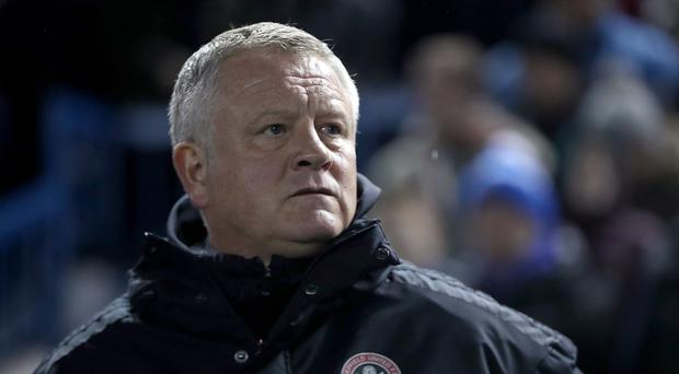 Chris Wilder has injury problems for the visit of Nottingham Forest (Simon Cooper/PA)