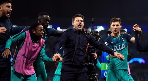 Mauricio Pochettino hailed his players as heroes after they reached the Champions League semi-finals (Mike Egerton/PA)