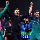 Tottenham are celebrating progress to the Champions League semi-finals (Mike Egerton/PA)