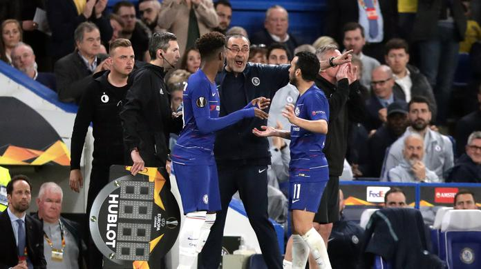 "Image result for Manager Maurizio Sarri says Chelsea's slow starts to the second half of matches are becoming a ""big problem"", after they were forced to withstand a Slavia Prague fightback before reaching the Europa League semi-finals."