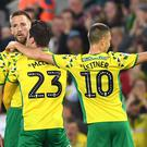 Norwich boosted their promotion hopes with a last-gasp equaliser against Sheffield Wednesday (Joe Giddens/PA)