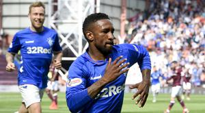 Jermain Defoe opened the scoring for Rangers (Ian Rutherford/PA)
