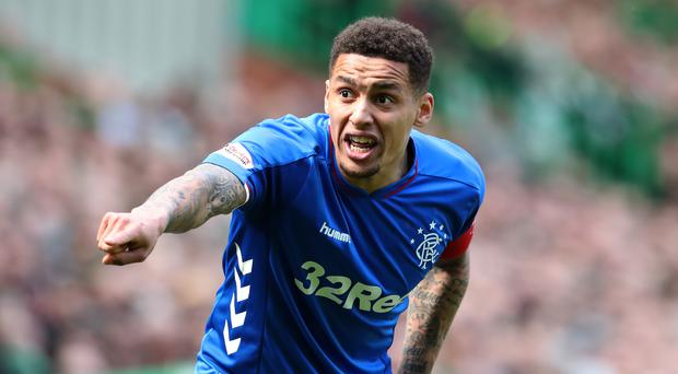 James Tavernier shared an image of the racist abuse on Instagram (Andrew Milligan/PA)