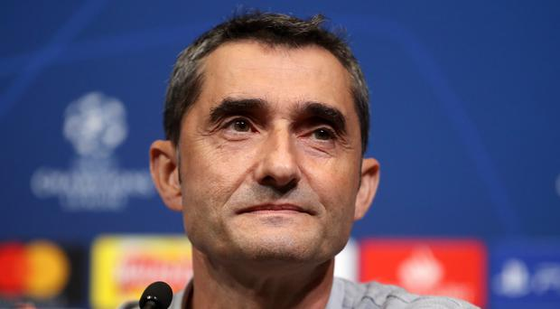 Barcelona manager Ernesto Valverde believes in the importance of the league as his side take on Levante (Adam Davy/PA)