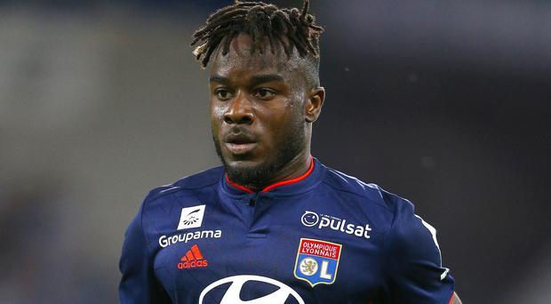 Lyon forward Maxwel Cornet was on target in the second half against Bordeaux (Nigel French/PA)