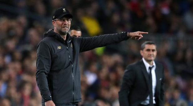 Liverpool manager Jurgen Klopp refuses to give up hope after the side's first-leg loss to Barcelona (Nick Potts/PA)