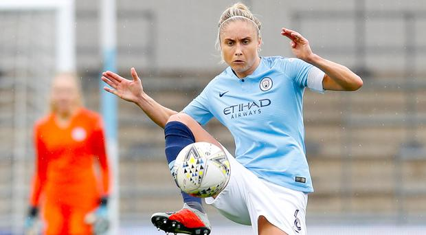 Manchester City's Steph Houghton hopes there will be a big crowd at Wembley (Martin Rickett/PA)