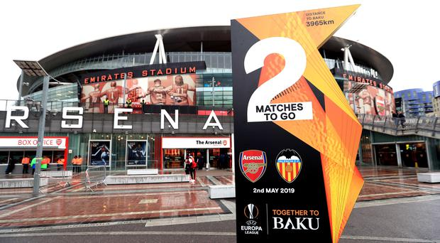 Valencia issued a strongly-worded statement in response to the footage at the Emirates Stadium (Mike Egerton/PA)