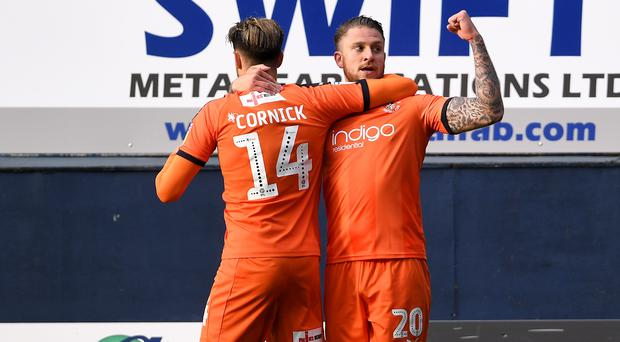 George Moncur netted a brace as Luton were crowed League One champions (Joe Giddens/PA)