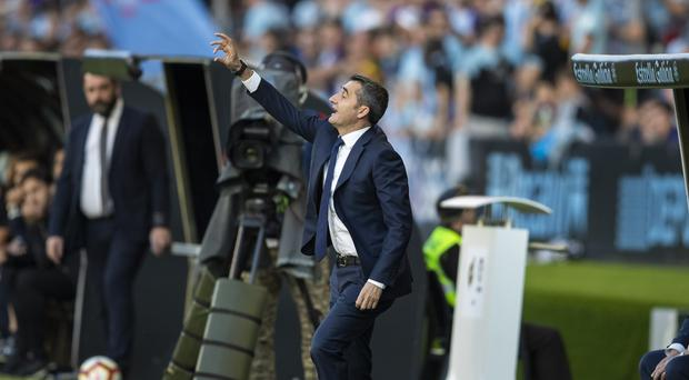 Barcelona coach Ernesto Valverde was left counting the cost of another injury (Lalo R. Villar/AP)