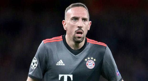 Franck Ribery is set to leave Bayern Munich in the summer (Nick Potts/PA)