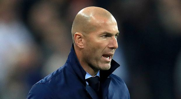 Zinedine Zidane left Gareth Bale out of his matchday squad (Mike Egerton/PA)