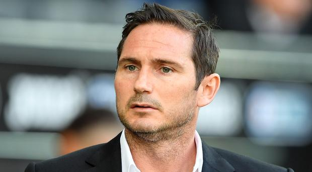 Frank Lampard's Derby will face Leeds in a play-off double-header (Simon Galloway/PA)