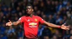 Manchester United's Paul Pogba is being linked with a move away from Old Trafford (Anthony Devlin/PA)