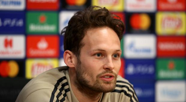 Defender Daley Blind insists Ajax did not party much after their Dutch cup win. (Adam Davy/PA)
