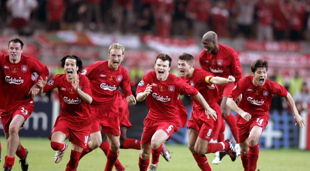 Liverpool have had some amazing comebacks, including the 2005 Champions League final (Phil Noble/PA)