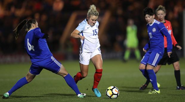 Izzy Christiansen, centre, will not be with England in France this summer (Adam Davy/PA)