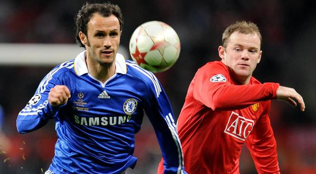 Chelsea and Manchester United battled it out in the 2008 Champions League in Moscow (Owen Humphreys/PA)