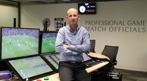 Mike Riley has explained some of the finer details of VAR ahead of its permanent introduction (Christopher Lee/PA)