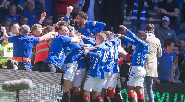 Rangers completed the Ibrox double over Celtic (Jeff Holmes/PA)