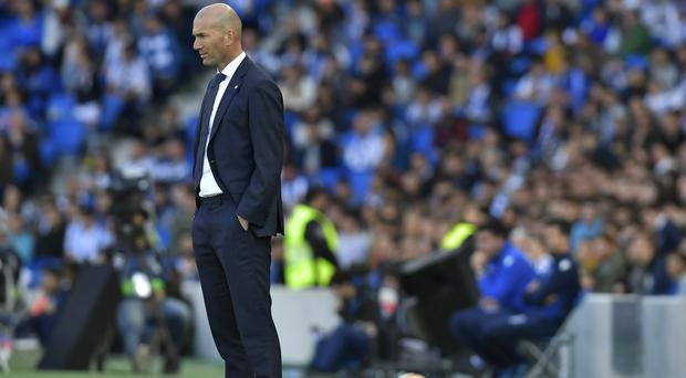Zinedine Zidane avoided talk of Gareth Bale's future after Real Madrid lost at Real Sociedad (Alvaro Barrientos/AP)