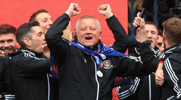 Sheffield United manager Chris Wilder guided the club back into the Premier League (Danny Lawson/PA)