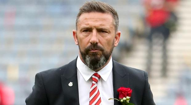 Aberdeen manager Derek McInnes is still being considered for the Scotland vacancy (Jane Barlow/PA)