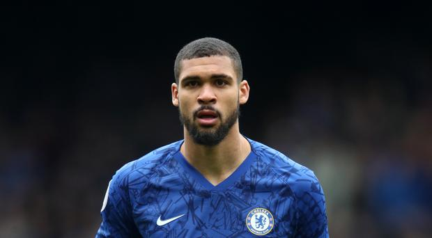 Chelsea's Ruben Loftus-Cheek was helped away from the pitch in the friendly against New England Revolution (Adam Davy/PA)