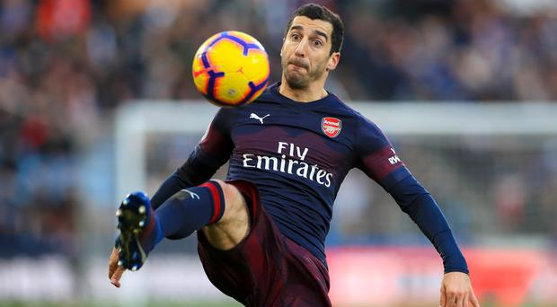 Henrikh Mkhitaryan did not travel to Baku for the group-stage clash with Qarabag (Mike Egerton/PA)