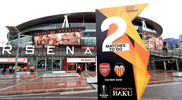 Arsenal beat Valencia to reach the Europa League final, but how many fans will make the journey to Baku? (Mike Egerton/PA)