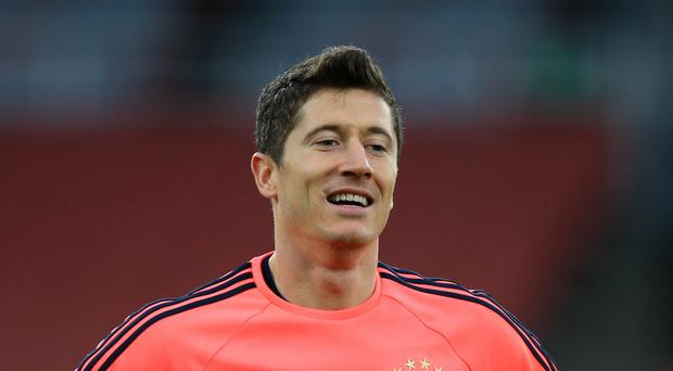 Robert Lewandowski, pictured, has revealed how Bayern Munich set their sights on a seventh consecutive Bundesliga title (John Walton/PA)