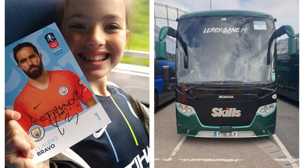 Lucky City fans who landed a place on the paid-for buses also got signed photos of their assigned player (Bob Brindle/Peter Robinson/PA)