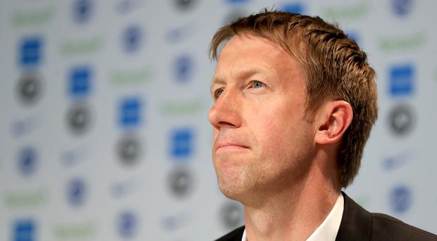 Brighton and Hove Albion's new manager Graham Potter during a press conference at The American Express Elite Football Performance Centre, Brighton.