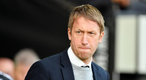 Graham Potter has plenty of work to do at Brighton (Simon Galloway/PA)