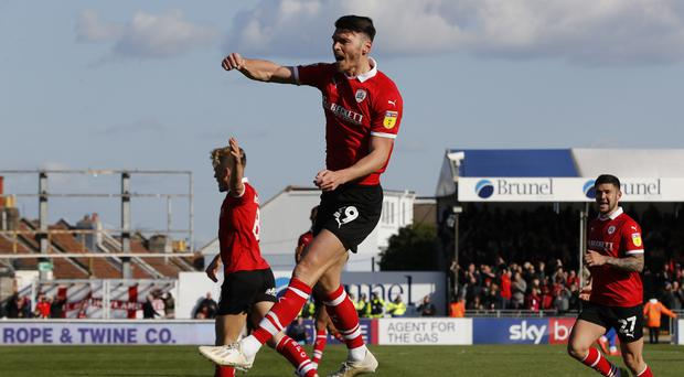 Barnsley striker Kieffer Moore has been called up for Wales' training camp in Portugal (Darren Staples/PA)