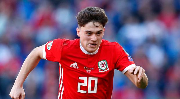 Daniel James has withdrawn from the Wales squad following the death of his father (Darren Staples/PA)