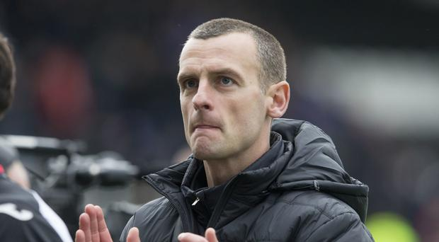 Oran Kearney's St Mirren have play-off advantage after draw at Dundee United (Jeff Holmes/PA)