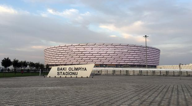 Baku Olympic Stadium has proved a controversial choice of venue for the Europa League final (Matt McGeehan/PA)