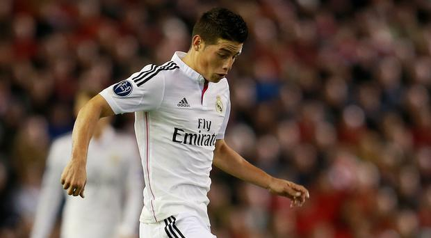 James Rodriguez has attracted interest from a number of Premier league clubs (David Davies/PA)