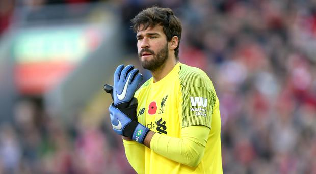 Liverpool goalkeeper Alisson Becker is preparing for the biggest game of his life (Barrington Coombs/PA)