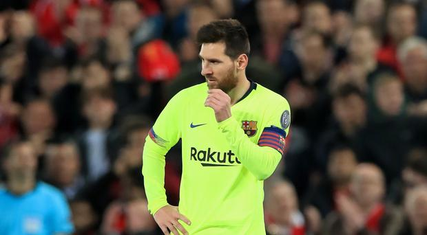 Lionel Messi admitted Barca are still suffering from their defeat to Liverpool (Peter Byrne/PA)