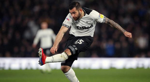 Derby's Bradley Johnson is eyeing a different end to the play-offs this season. (Nick Potts/PA)