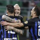 Radja Nainggolan, centre, scored the goal that sent Empoli down (Luca Bruno/PA)