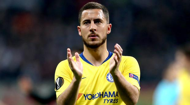The Europa League final might be Eden Hazard's Chelsea swansong (Steven Paston/PA)