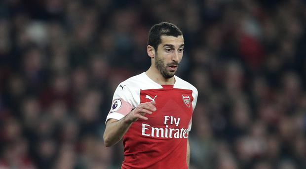 Henrikh Mkhitaryan chose not to travel to Baku for Arsenal's Europa League final with Chelsea. (Adam Davy/PA)