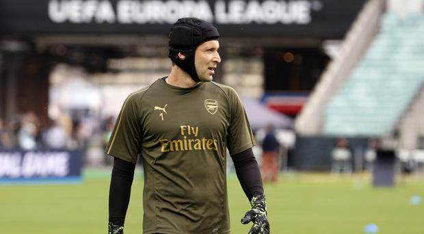 Petr Cech is looking to bow out at Arsenal with victory in the Europa League (Darko Bandic/AP)