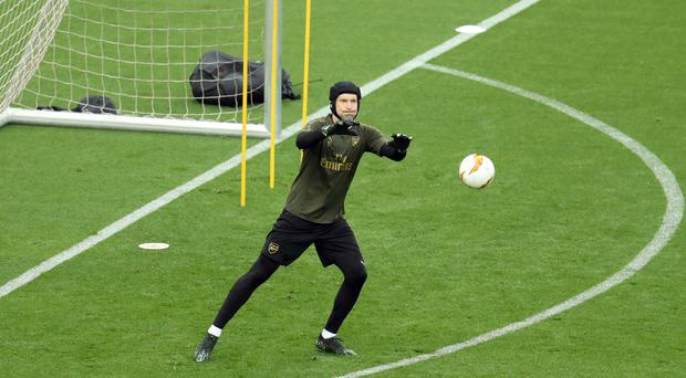 Unai Emery has expressed his faith in Petr Cech despite the goalkeeper reportedly joining Europa League final opponents Chelsea later this summer (Bradley Collyer/PA)
